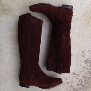 Madewell Archive Dark Brown Suede Riding Boots